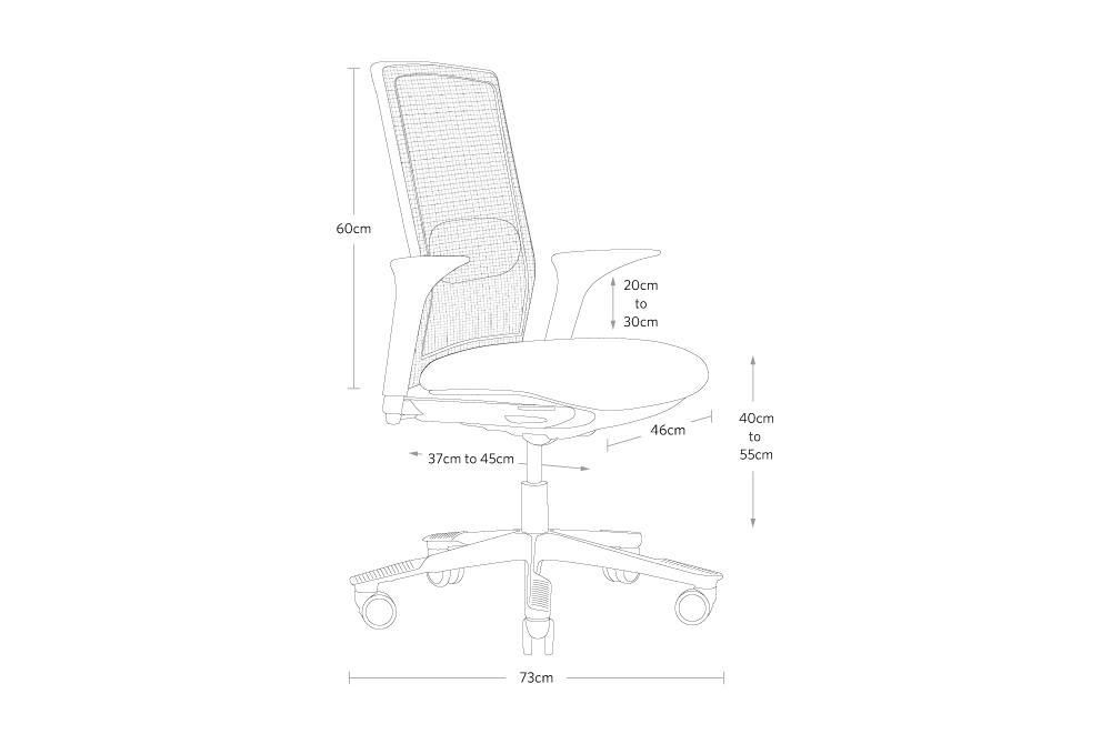 fully futu desk chair by HAG