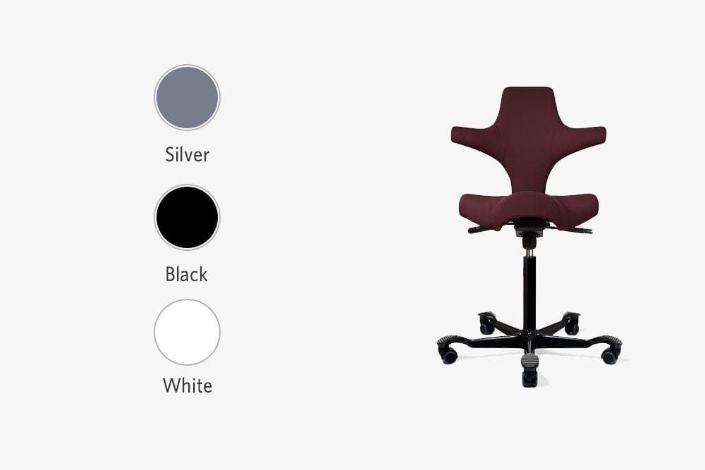 fully capisco chair by hag base silver black white
