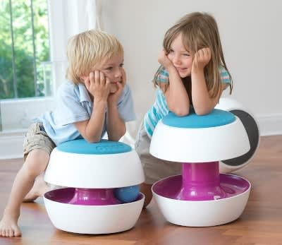 fully ongo kit in use by children with elbows purple and light blue