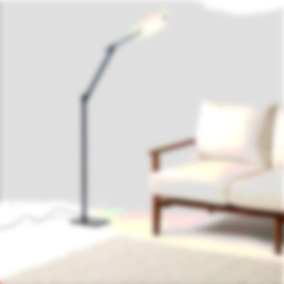 fully beam led floor lamp black with couch