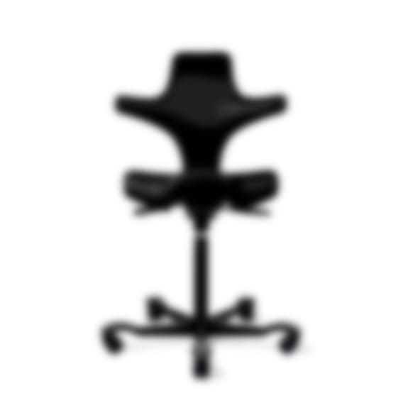 fully capisco ultra sound chair by hag onyx vinyl black base