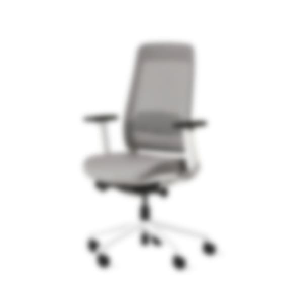 Fully desk chair white and gray