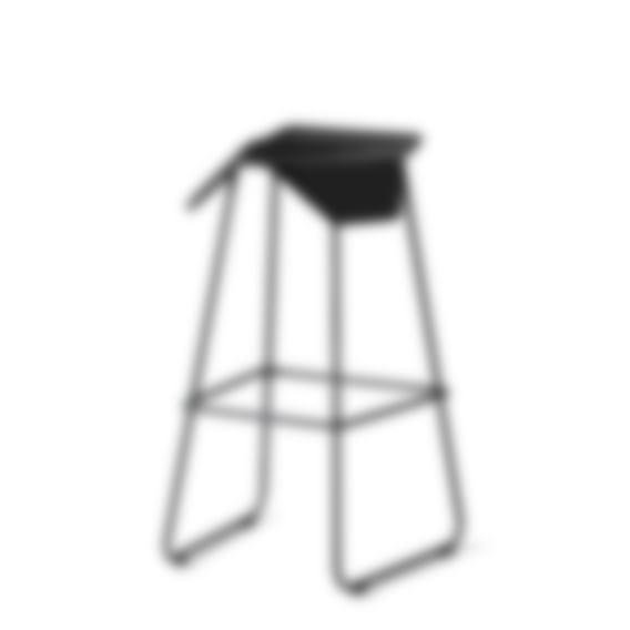ILOA Barstool - Black Seat - No Cushion - Black Base
