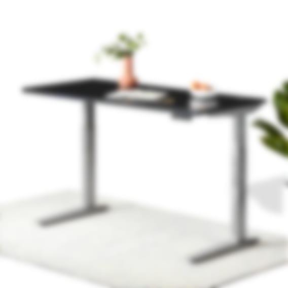jarvis laminate standing desk black top alloy frame