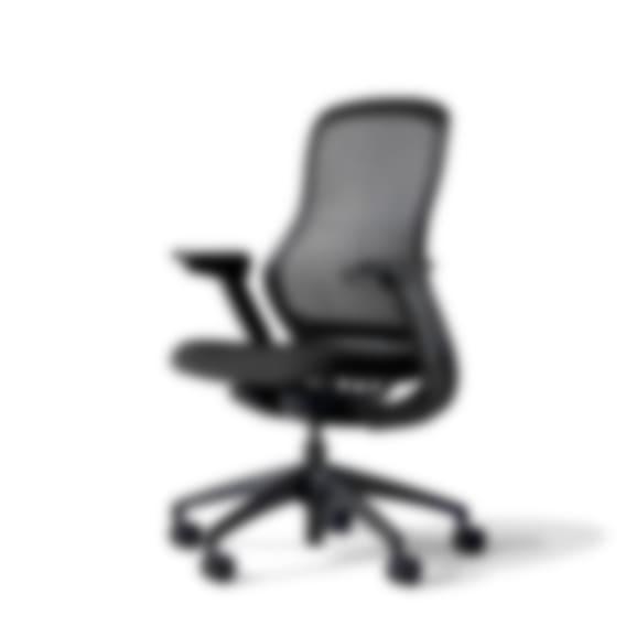 fully knoll regeneration chair onyx back onyx seat