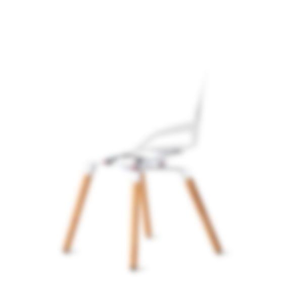 Numo chair white wood base