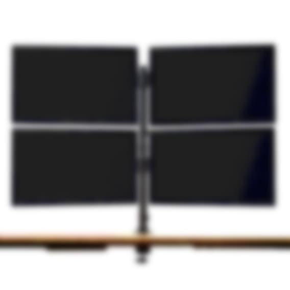 Fully Pole-Mounted Monitor Arm - Quad