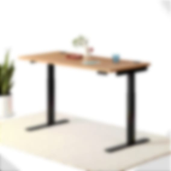fully jarvis bamboo standing desk rectangle black frame