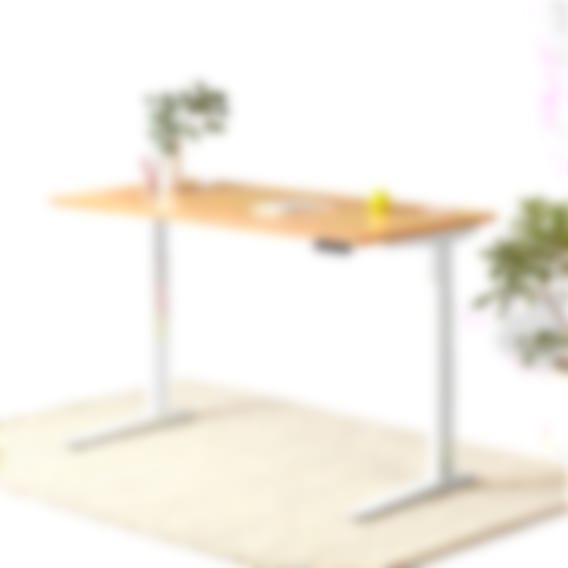 fully jarvis bamboo curve standing desk black frame