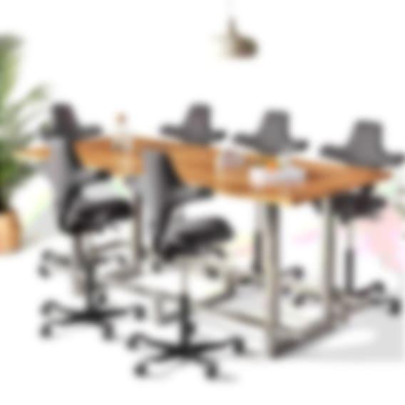 Jarvis Oregon White Oak Adjustable-Height Conference Table