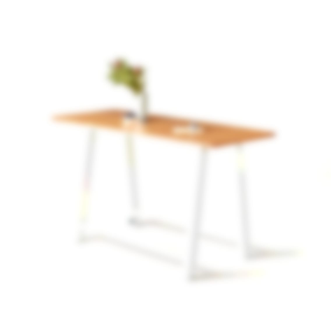 fully colbe breakout table white frame bamboo