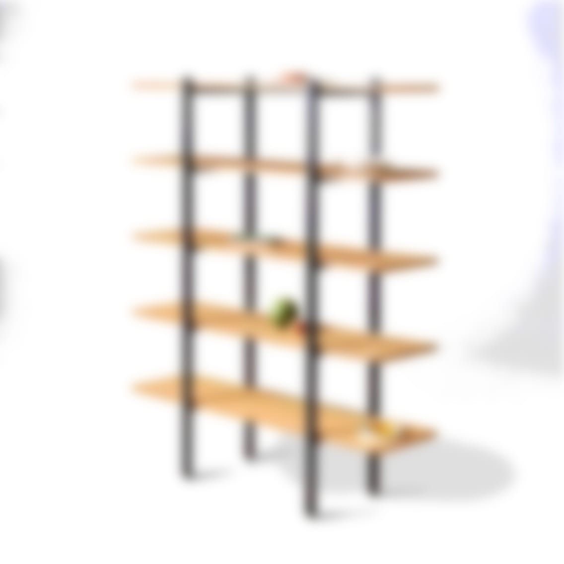 fully colbe shelving unit bamboo black frame tall