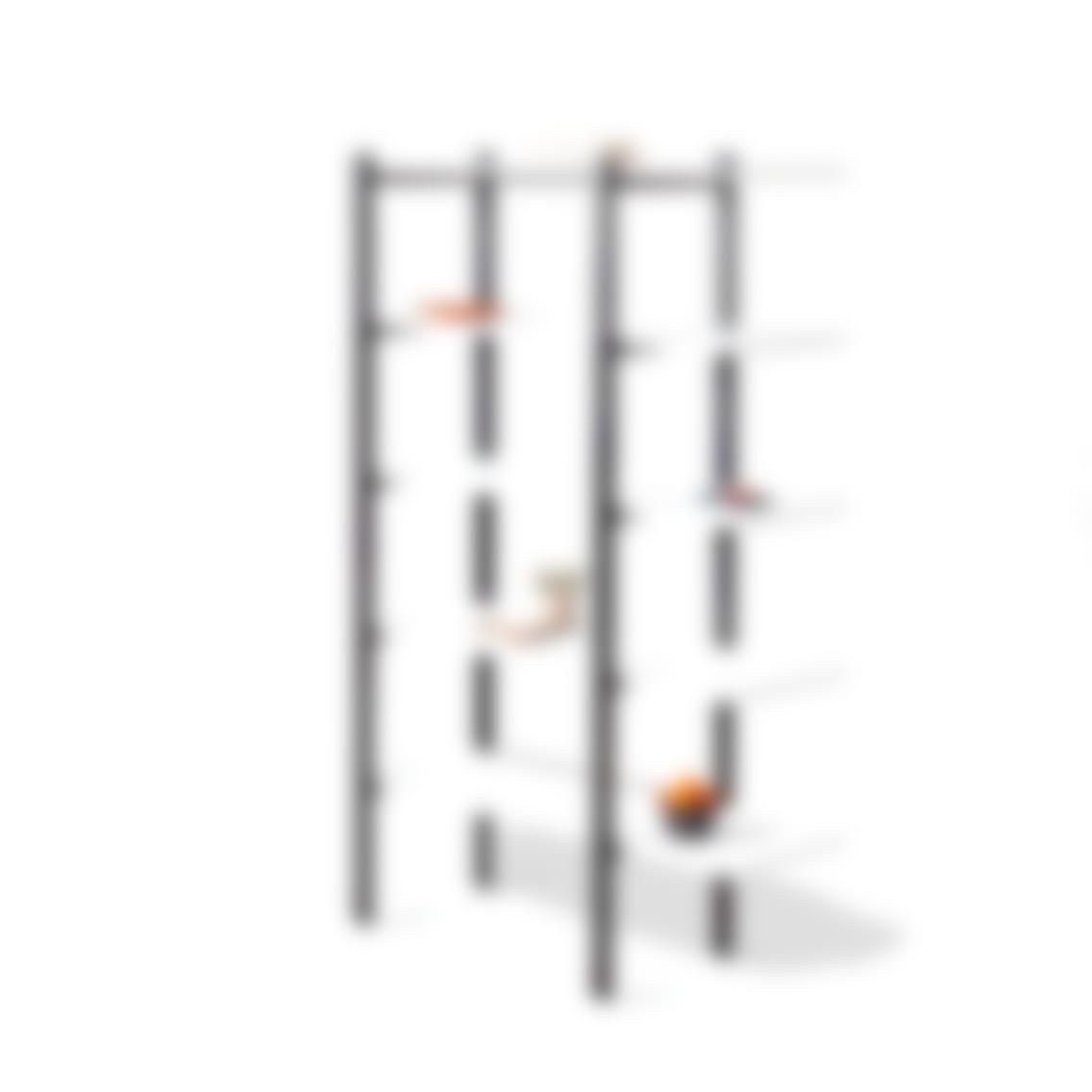 fully colbe shelving unit white laminate black frame tall