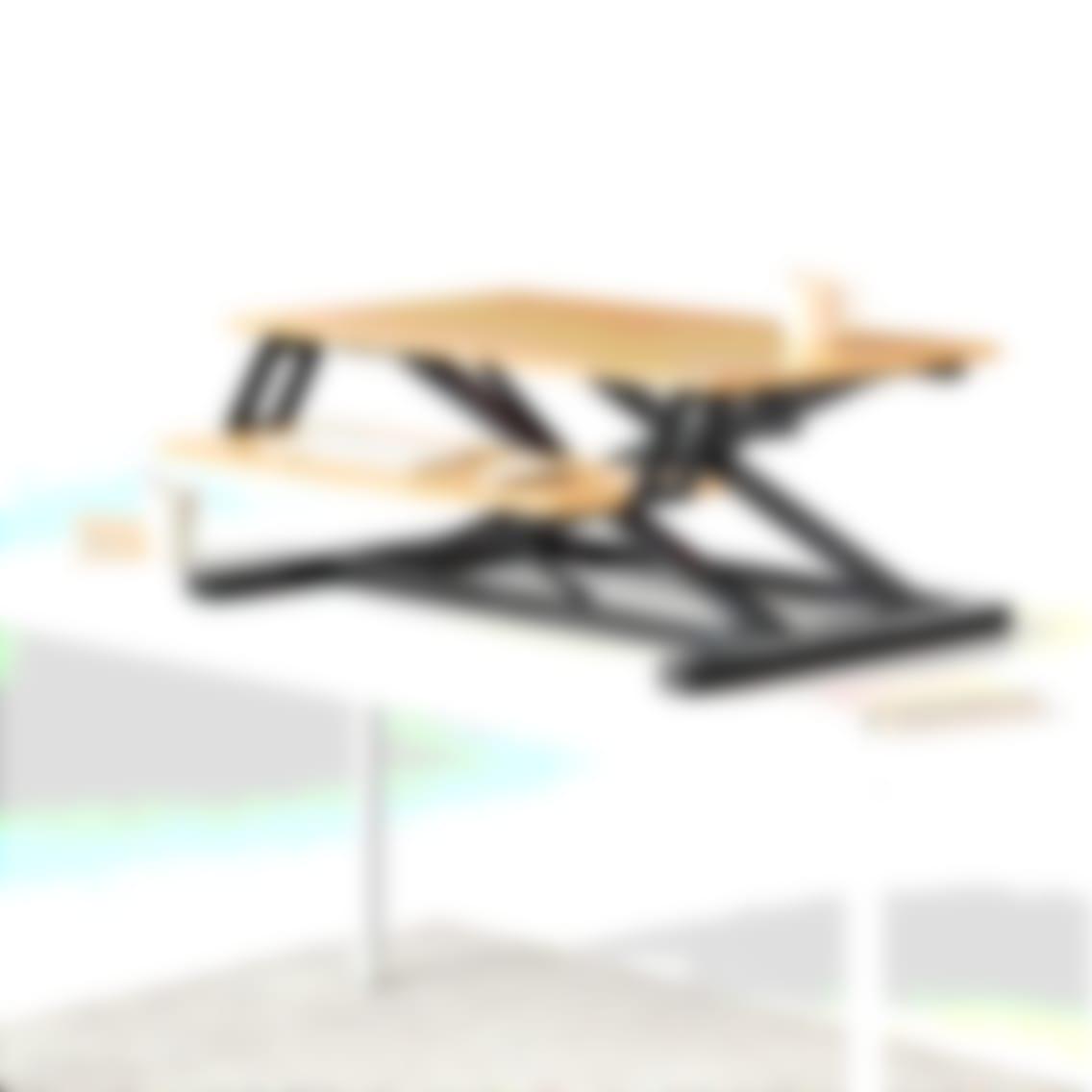fully cooper standing desk converter bamboo extended