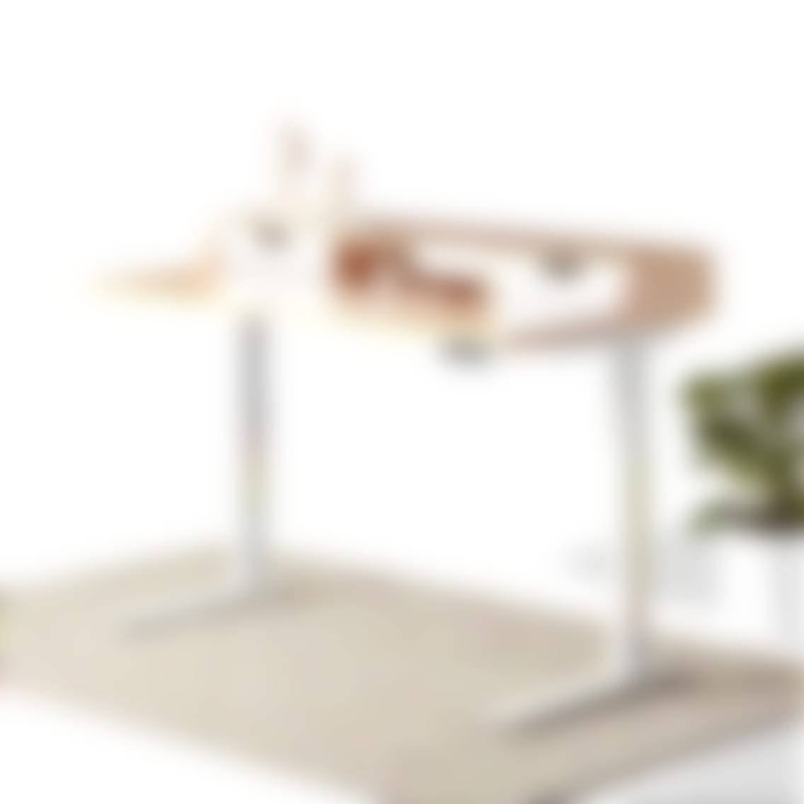 fully jarvis albright standing desk sealed natural maple with sculptures white frame