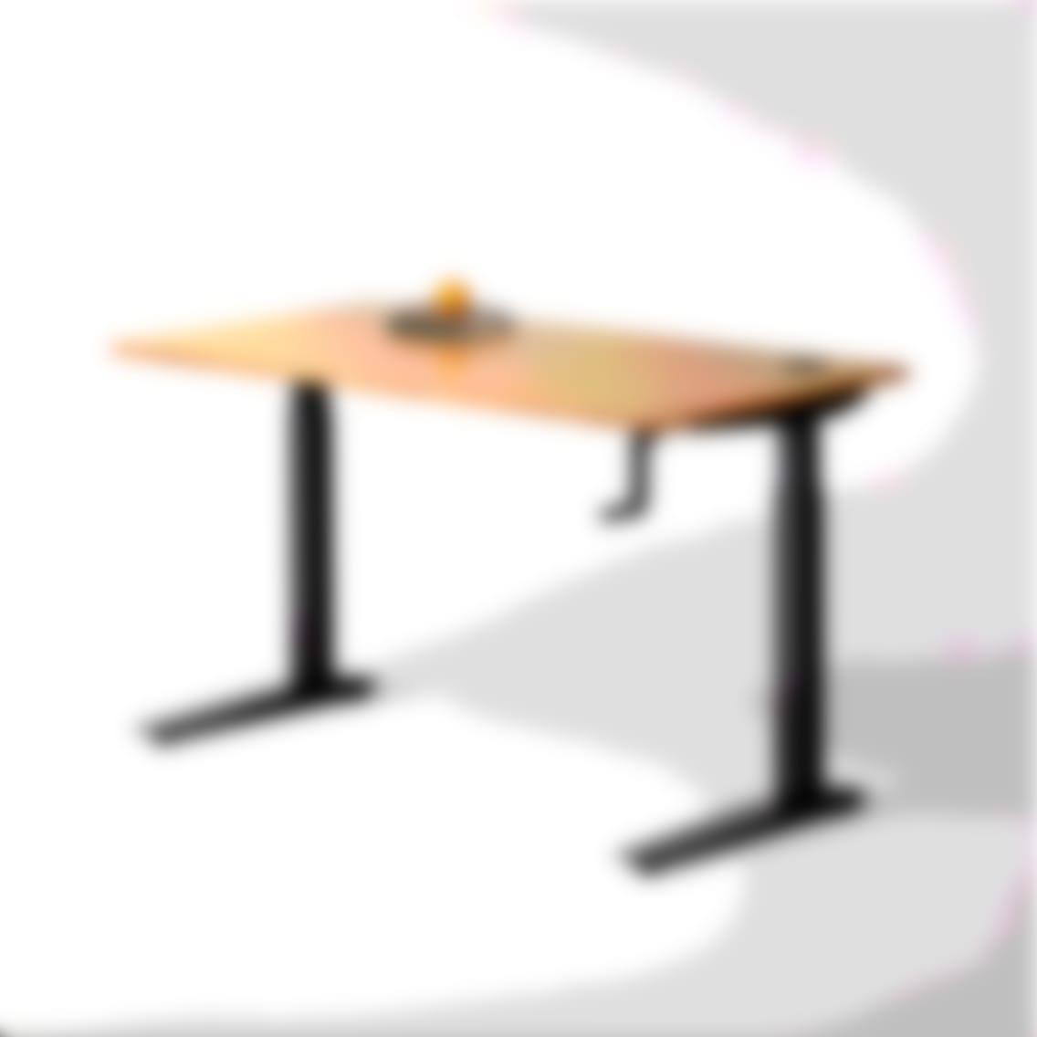 fully jarvis crank powered standing desk bamboo rectangle black frame