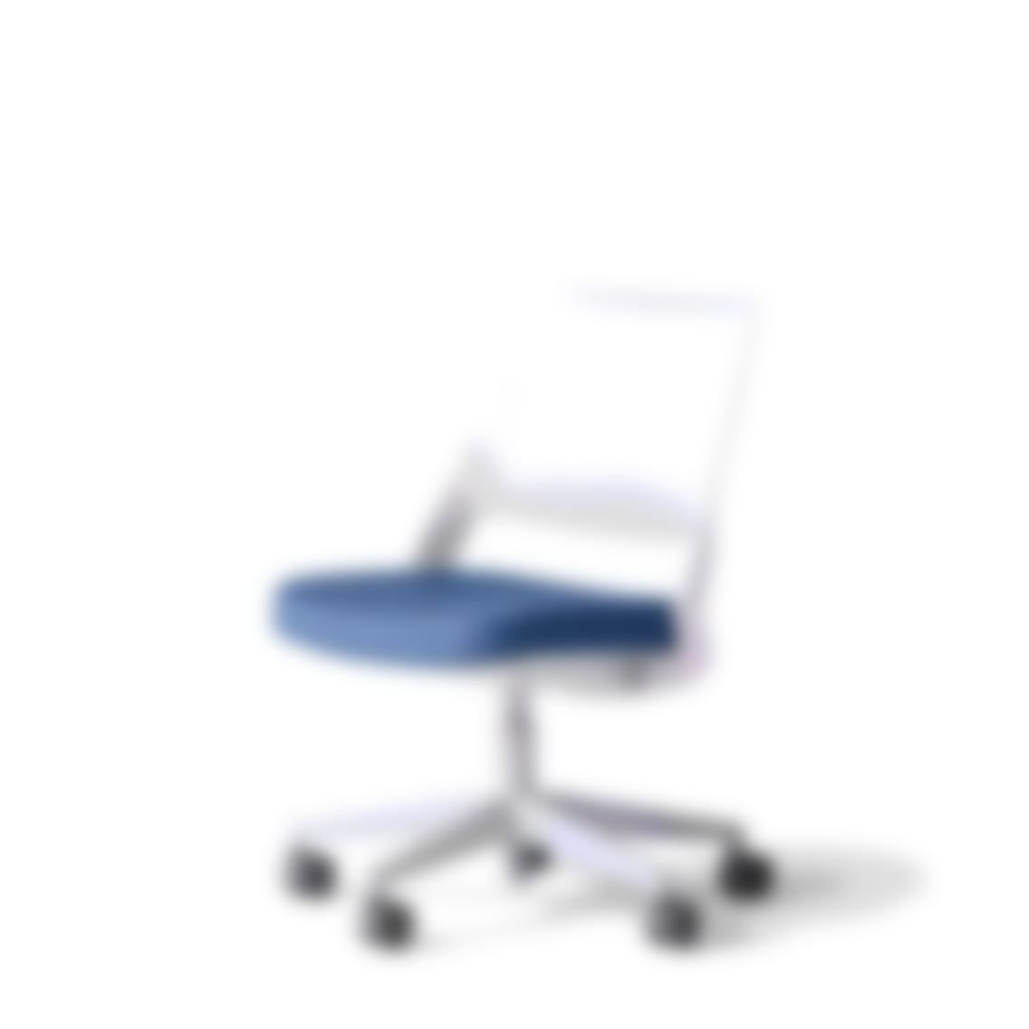 fully knoll ollo chair grey back blue seat