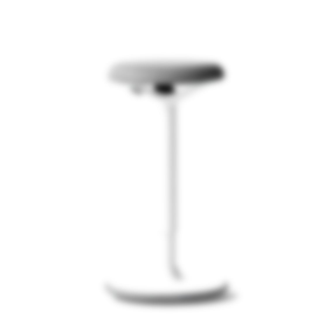 fully luna standing desk stool gray white base