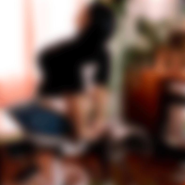 Denisse Myrik sitting on a Capisco Puls by HAG