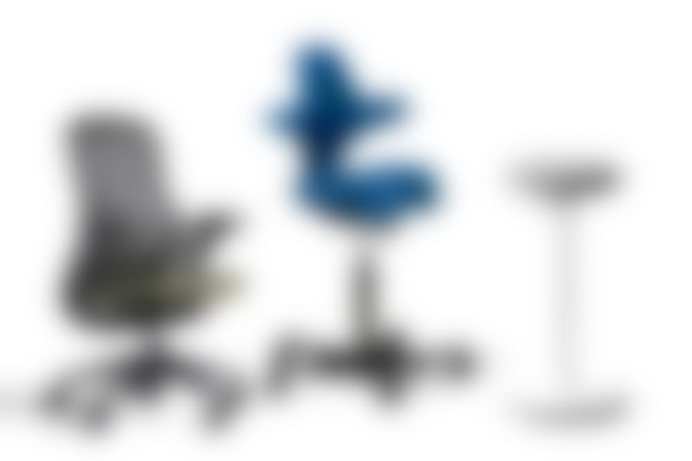 Image of  Capisco Chair by HAG, Luna, and ReGeneration Chair by Knoll