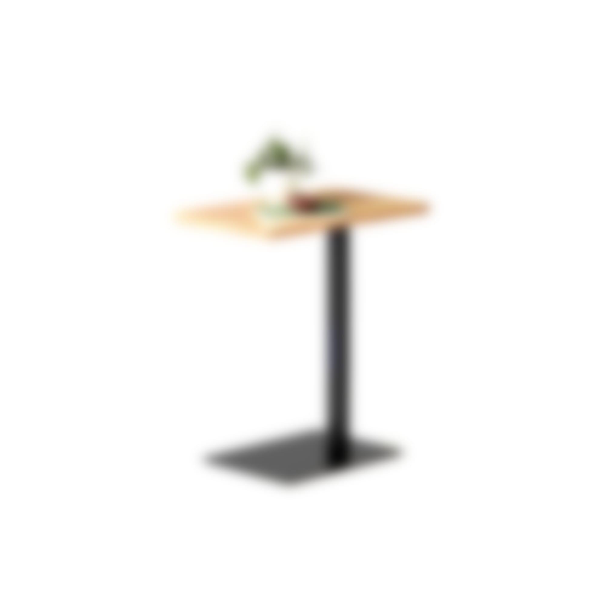 mari c-table bamboo finish with black base