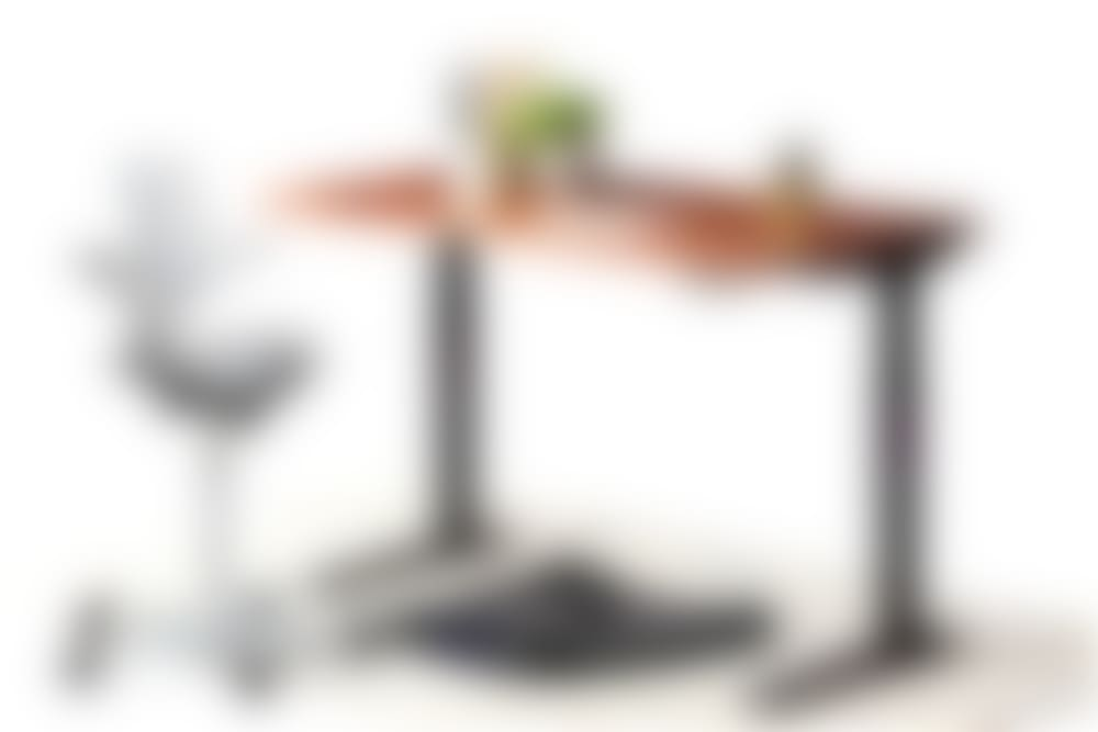 jarvis hardwood standing desk black frame capisco puls and topo anti-fatigue mat