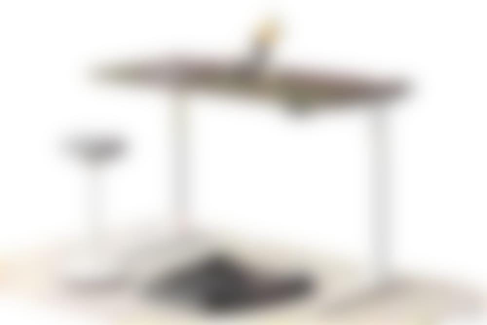 jarvis wood veneer standing desk white frame luna stool and topo anti-fatigue mat
