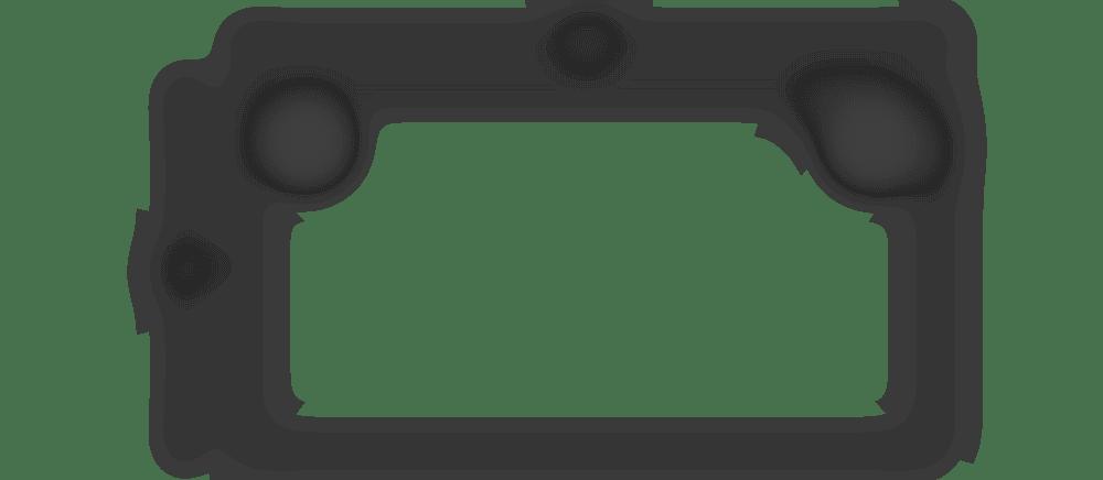 fully jarvis rectangle desktop spec 48 x27 with grommet